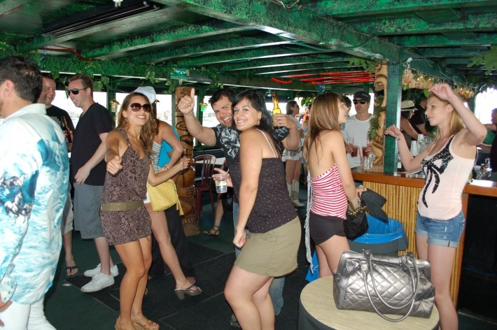 Dance the night away while cruising on the bay  to a  DJ or band